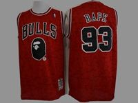 Mens Nba Chicago Bulls Bathing Ape #93 Bape Red Printing Jersey