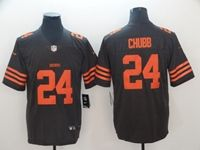 Mens Nfl Cleveland Browns #24 Nick Chubb Brown Color Rush Vapor Untouchable Limited Nike Jersey