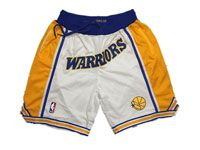 Mens Nba Golden State Warriors White Nike Just Do Pocket Shorts
