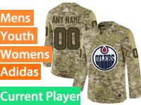 Mens Women Youth Adidas Edmonton Oilers Current Player Camo Jersey