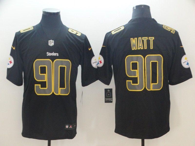 Mens Nfl Pittsburgh Steelers #90 T. J. Watt 2018 Fashion Impact Black Vapor Untouchable Limited Jersey