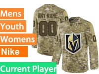 Mens Women Youth Adidas Vegas Golden Knights Current Player Camo Jersey