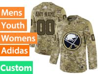 Mens Women Youth Adidas Buffalo Sabres Custom Made Camo Jersey