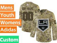 Mens Womens Youth Adidas Los Angeles Kings Custom Made Camo Jersey