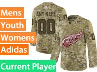 Mens Women Youth Adidas Detroit Red Wings Current Player Camo Jersey