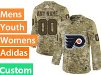 Mens Women Youth Adidas Philadelphia Flyers Custom Made Camo Jersey