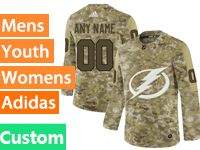 Mens Women Youth Adidas Tampa Bay Lightning Custom Made Camo Jersey