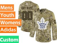 Mens Women Youth Adidas Toronto Maple Leafs Custom Made Camo Jersey