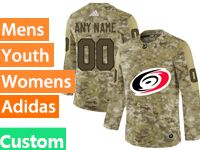 Mens Women Youth Adidas Nhl Carolina Hurricanes Custom Made Camo Jersey