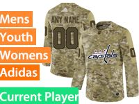 Mens Women Youth Adidas Washington Capitals Current Player Camo Jersey