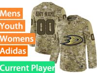 Mens Women Youth Adidas Anaheim Ducks Current Player Camo Jersey