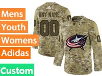 Mens Women Youth Adidas Nhl Columbus Blue Jackets Custom Made Camo Jersey