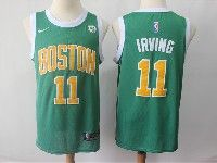 Mens 2018-19 Nba Boston Celtics #11 Kyrie Irving Green Swingman Earned Edition Jersey