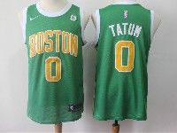 Mens 2018-19 Nba Boston Celtics #0 Jayson Tatum Green Swingman Earned Edition Jersey