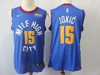 Mens Nba Nike Denver Nuggets #15 Nikola Jokic Light Blue Mile High City Basketball Jersey