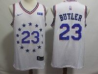 Mens 2018-19 Nba Philadelphia 76ers #23 Jimmy Butler White Earned Edition Nike Swingman Jersey