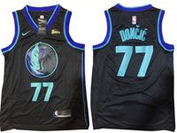 Mens Nba Dallas Mavericks #77 Luka Doncic Black 2018-19 Nike City Edition Jersey