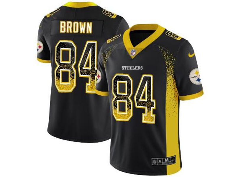 Mens Nfl Pittsburgh Steelers #84 Antonio Brown Black 2018 Drift Fashion Vapor Untouchable Limited Jersey