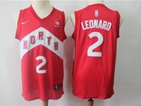 Mens 2018-19 Nba Toronto Raptors #2 Kawhi Leonard Red Earned Edition Nike Swingman Jersey