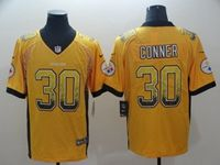 Mens Nfl Pittsburgh Steelers #30 James Conner Yellow 2018 Drift Fashion Vapor Untouchable Limited Jersey