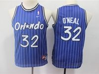 Youth Nba Orlando Magic #32 O`neal Blue Stripe Mitchell&ness Jersey