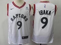 Mens 2018-19 Nba Toronto Raptors #9 Serge Ibaka White Nike Swingman Jersey