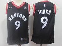 Mens 2018-19 Nba Toronto Raptors #9 Serge Ibaka Black Nike Swingman Jersey