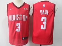 Mens 2018-19 Nba Houston Rockets #3 Chris Paul Red Nike Earned Edition Swingman Jersey