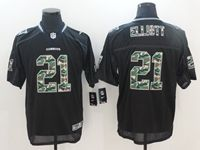 Mens Nfl Dallas Cowboys #21 Ezekiel Elliott Black Camo Classic Elite Jersey