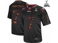 Mens Nfl San Francisco 49ers #7 Colin Kaepernick Black Camo Classic Elite Jersey