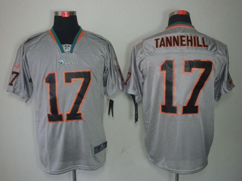 Mens Nfl Miami Dolphins #17 Ryan Tannehill Gray Classic Elite Jersey