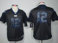 Youth Nfl Indianapolis Colts #12 Andrew Luck Black Lights Out Elite Jersey