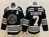 Mens Nhl Chicago Blackhawks #7 Brent Seabrook 2019 Winter Classic Black Adidas Jersey