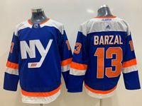 Mens Nhl New York Islanders #13 Mathew Barzal Blue Adidas Jersey
