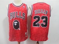 Mens Nba Chicago Bulls #23 Michael Jordan Red Printing Jersey