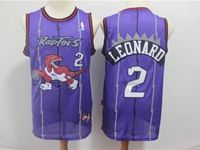 Mens Nba Toronto Raptors #2 Kawhi Leonard Purple Mitchell&ness Jersey