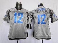 Youth Nfl Indianapolis Colts #12 Andrew Luck Grey Shadow Elite Jersey