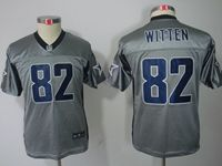 Youth Nfl Dallas Cowboys #82 Jason Witten Grey Shadow Elite Jersey