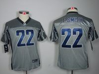 Youth Nfl Dallas Cowboys #22 Emmitt Smith Grey Shadow Elite Jersey