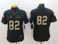 Women Nfl Dallas Cowboys #82 Jason Witten Black Camo Number Salute To Service Limited Jersey