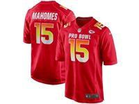 Mens Kansas City Chiefs #15 Patrick Mahomes Red 2019 Pro Bowl Nfc Nike Royal Game Jersey