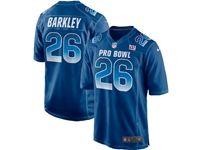 Mens New York Giants #26 Saquon Barkley Blue 2019 Pro Bowl Nfc Nike Royal Game Jersey