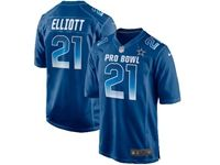 Mens Dallas Cowboys #21 Ezekiel Elliott Blue 2019 Pro Bowl Nfc Nike Royal Game Jersey