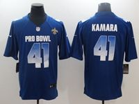 Mens New Orleans Saints #41 Alvin Kamara Blue 2019 Pro Bowl Nfc Nike Royal Game Jersey