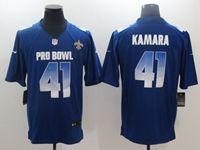 Mens New Orleans Saints #41 Alvin Kamara Blue 2019 Pro Bowl Nfc Nike Royal Game Jersey