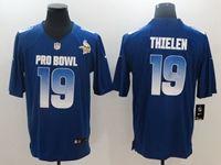Mens Minnesota Vikings #19 Adam Thielen Blue 2019 Pro Bowl Nfc Nike Royal Game Jersey