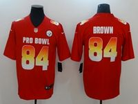 Mens Pittsburgh Steelers #84 Antonio Brown Red 2019 Pro Bowl Nike Royal Vapor Untouchable Limited Jersey