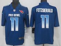 Mens Arizona Cardinals #11 Larry Fitzgerald Blue 2019 Pro Bowl Nike Royal Vapor Untouchable Limited Jersey