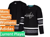 Mens Women Youth Adidas Washington Capitals Current Player Black 2019 All Star Jersey