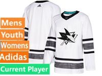Mens Women Youth Adidas San Jose Sharks Current Player White 2019 All Star Jersey